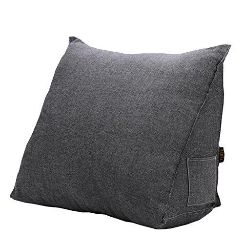 Kondrao Zurück Keil Kissen Dreieck Kissen, Rückenstütze für Bett, Sofa, TV, Bürostuhl und Lesekissen Größe Groß und Medium (L, 004)