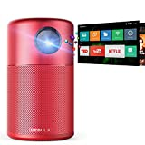 "Photo : Nebula Capsule Smart Mini Projector, by Anker, Portable 100 ANSI lm High-Contrast Pocket Cinema with Wi-Fi, DLP, 360° Speaker, 100"" picture, Android 7.1, 4-Hour Video Playtime, and App-Red"