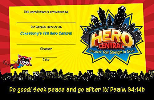 Vacation Bible School VBS Hero Central Leader Recognition Certificates (Pkg of 10): Discover Your Strength in (Vbs Certificate)