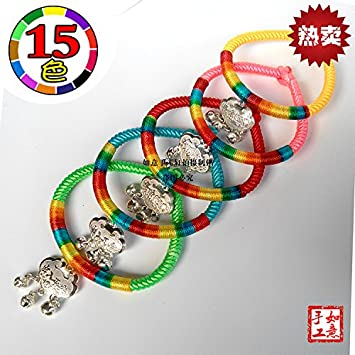 Amazon Cheap Fenghuang Miao Children Longevity Lock Silver Bell Bracelet Jewelry Auspicious Birthday Gift Delivery Beauty