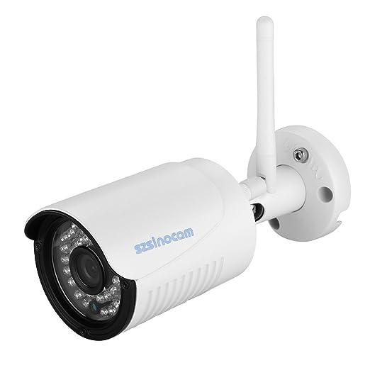 24 opinioni per Szsinocam 720P Videocamera Sorveglianza Impermeabile WLAN Wireleess 1.0