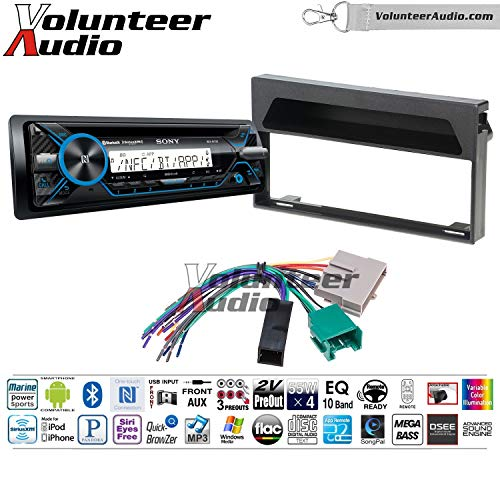 Volunteer Audio Sony Mex M71bt Single Din Marine Radio Install Kit With Bluetooth Cd Player Fits 1997 Ford Expedition 1997 1998 F 150 Premium Sound Systems