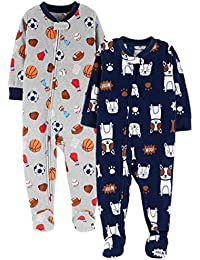 Baby and Toddler Boys  2-Pack Fleece Footed Pajamas b1f63f0d0