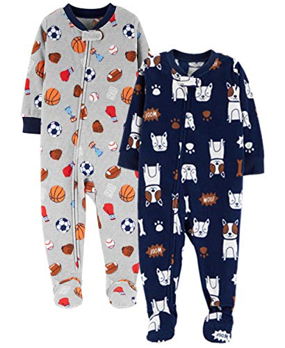- Carter's Baby Boys' 2-Pack Fleece Pajamas, Sports/Dog, 24 Months