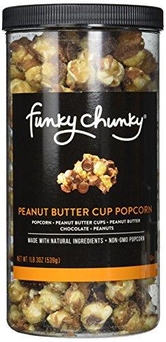 FunkyChunky Cup Popcorn, Peanut Butter, 19 - Butter Caramel Vanilla