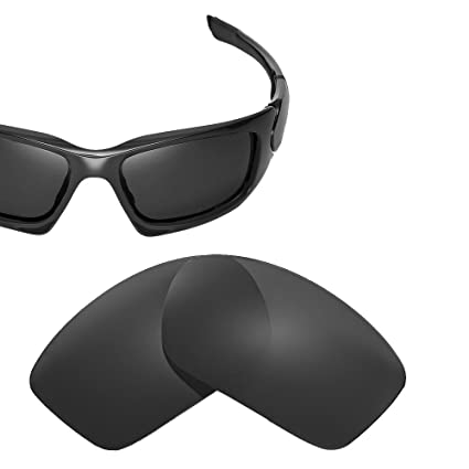 615113e35a2 Cofery Replacement Lenses for Oakley Scalpel Sunglasses - Multiple Options  Available (Black - Polarized)
