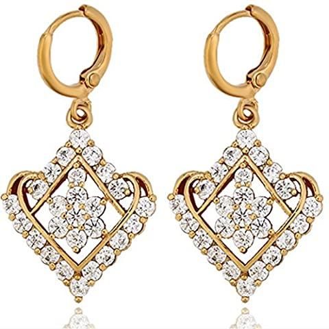Juvel Jewelry Fashion Charms Drop And Dangle Earring With New Design CZ Elemental - Round Sterling Silver Wire Basket