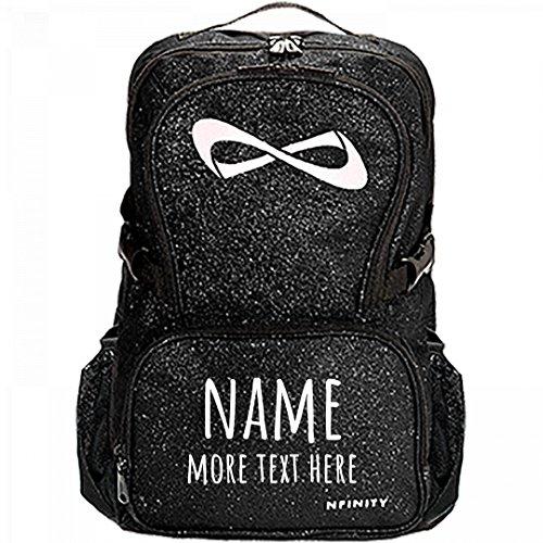 Custom Name/Text Cheer Bag: Nfinity Sparkle Backpack Bag by Customized Girl
