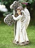 Roman 11.75″ Joseph's Studio Angel Facing Cross Religious Outdoor Garden Statue