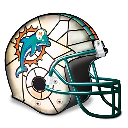 Miami Dolphins Football Helmet Accent Lamp With Logo by The Bradford Exchange