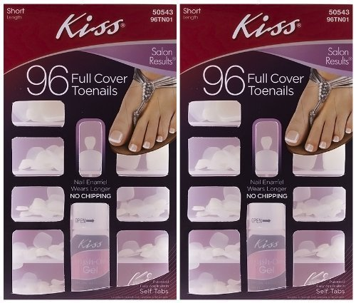**2-PACK** Kiss 96-Count TOENAILS - Full Coverage Short Toenails