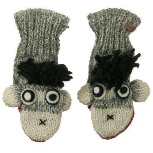 Child Animal Wool Mitten-Punk Monkey (Monkey Wool Mittens)