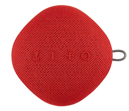 (Coby True Wireless Bluetooth Speaker w/Mic | Loud HD Sound | IPX5 Waterproof for Camping, Shower, Travel, Beach Listening |12 Hours of Music | Compact, Portable, and Rechargeable (Red))