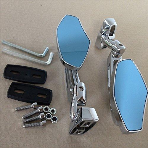 Chrome Adjustable Base Mirrors Rearview For Suzuki Hayabusa GSX1300R 99-12