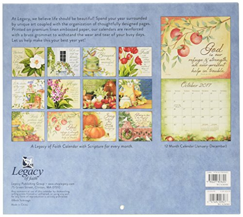 Legacy Publishing Group 2017 12-Month Wall Calendar with Scripture, Daily Grace (WCA26044)