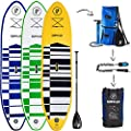 """Supflex 10' Inflatable Stand Up Paddleboard (6"""" Thick) 