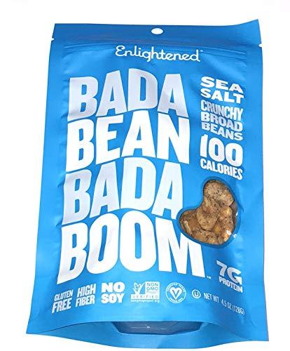 (Enlightened Bada Bean Bada Boom Crunchy Broad Beans 4.5oz - 6 Bags (BADA BEAN SEA SALT 4.5oz 6PK))