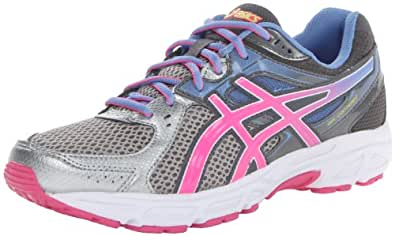 ASICS Women's Gel-Contend 2-D Running Shoe,Lightning/Hot Pink/Periwinkle Blue,6.5 D US