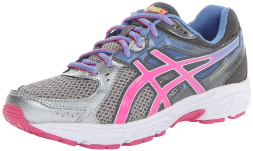 ASICS Women's Gel-Contend 2 Running Shoe,Lightning/Hot Pink/Periwinkle Blue,8.5 M US