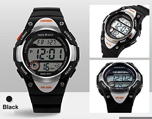 Boys Girls Multifunction Fashion Digital LED Sports Wrist Watch 50M Water Resistant Silicone Student Kids by OWIKAR (Image #3)