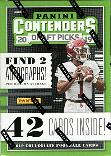 2019 Panini Contenders Draft Picks Football BLASTER box (42 cards incl. TWO Autograph cards)