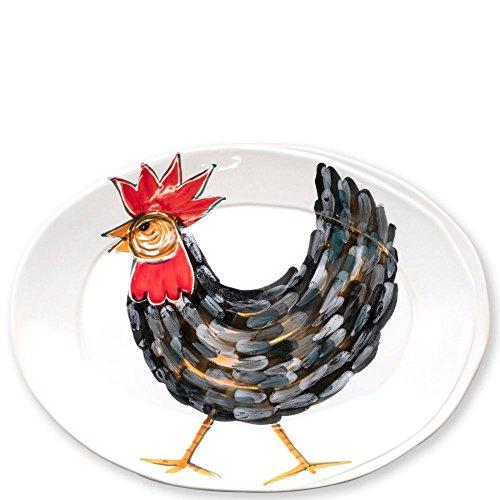 (Vietri Fortunata Rooster Small Oval)