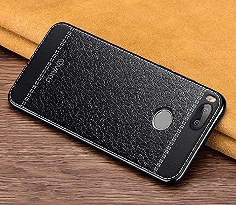 uk availability 3465e 18486 Vaku ® Xiaomi Mi A1 Leather Stitched Gold: Amazon.in: Electronics