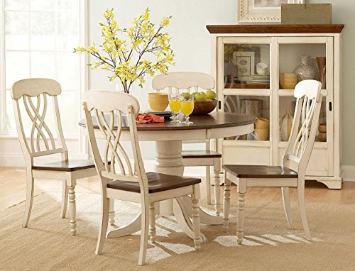 Homelegance ohana two tone dining chairs with geometric x back backrest set of 2 white - Artistic wood clad design for warm essence in your house ...