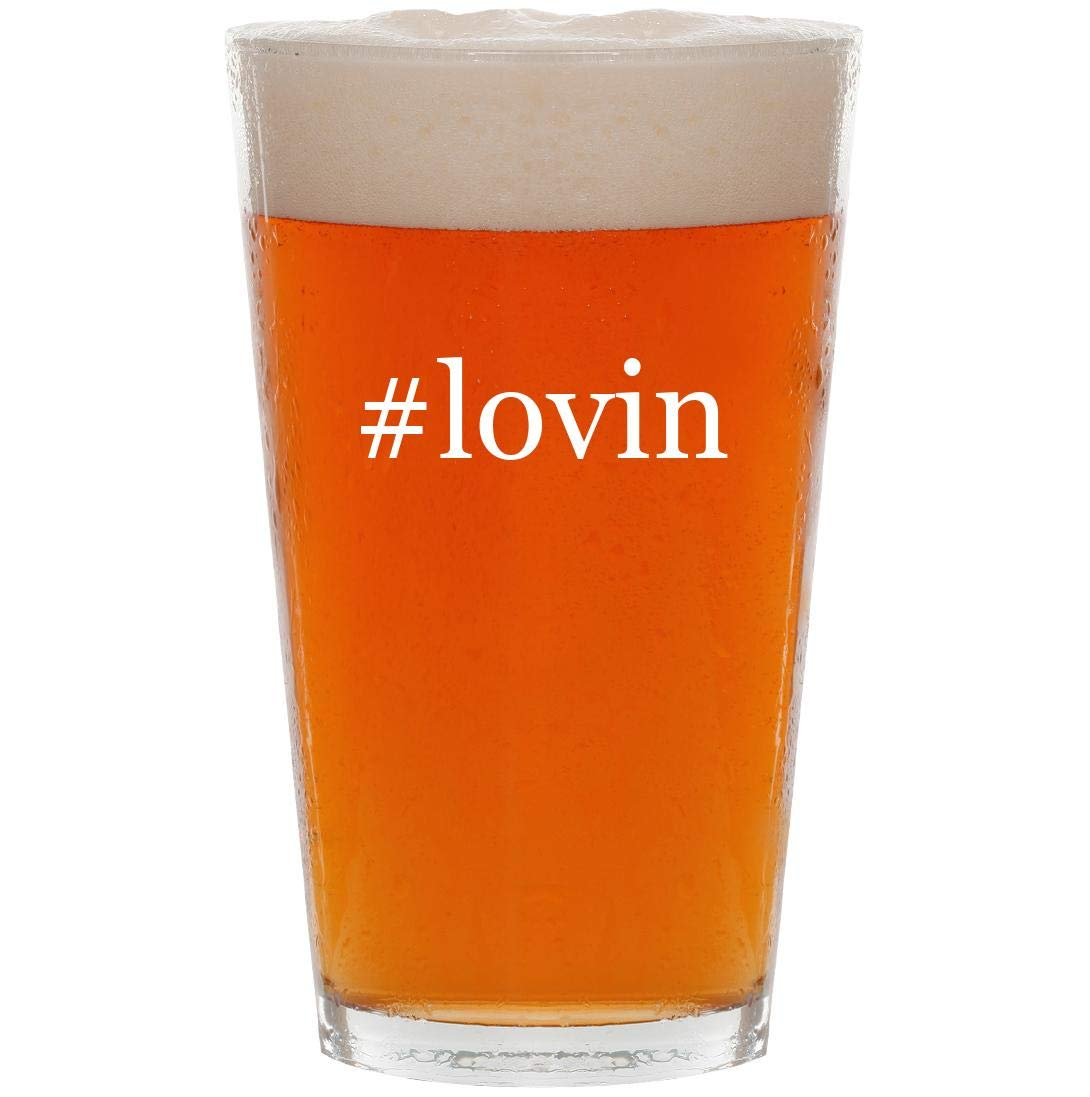 #lovin - 16oz Hashtag Pint Beer Glass