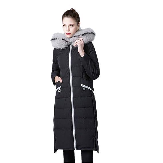 YZ HOD Veste d'hiver en Duvet de Fourrure pour Femme à