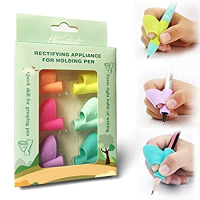 2018 New Original Breakthrough Assorted Writing Aid Grip Trainer Posture Correction Finger Grip for Kids Preschoolers Children Adults Special Needs for Lefties or Righties(8PCS)