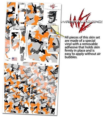 Sexy Girl Silhouette Camo Orange - Decal Style Vinyl Skin fits Keurig K10 / K15 Mini Plus Coffee Makers (KEURIG NOT INCLUDED) by WraptorSkinz (Image #2)