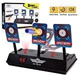 OMWay Electric Scoring Shooting Target, Digital Auto-Reset Bullet Target for Toy Guns, Easter Birthday for Kids Toddlers Boys Girls.(Only Target)