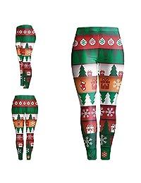 Kalin L 3D Digital Ugly Christmas Leggings for Women