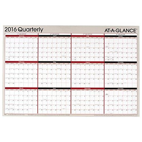 GLANCE Calendar Erasable Reversible Quarterly product image