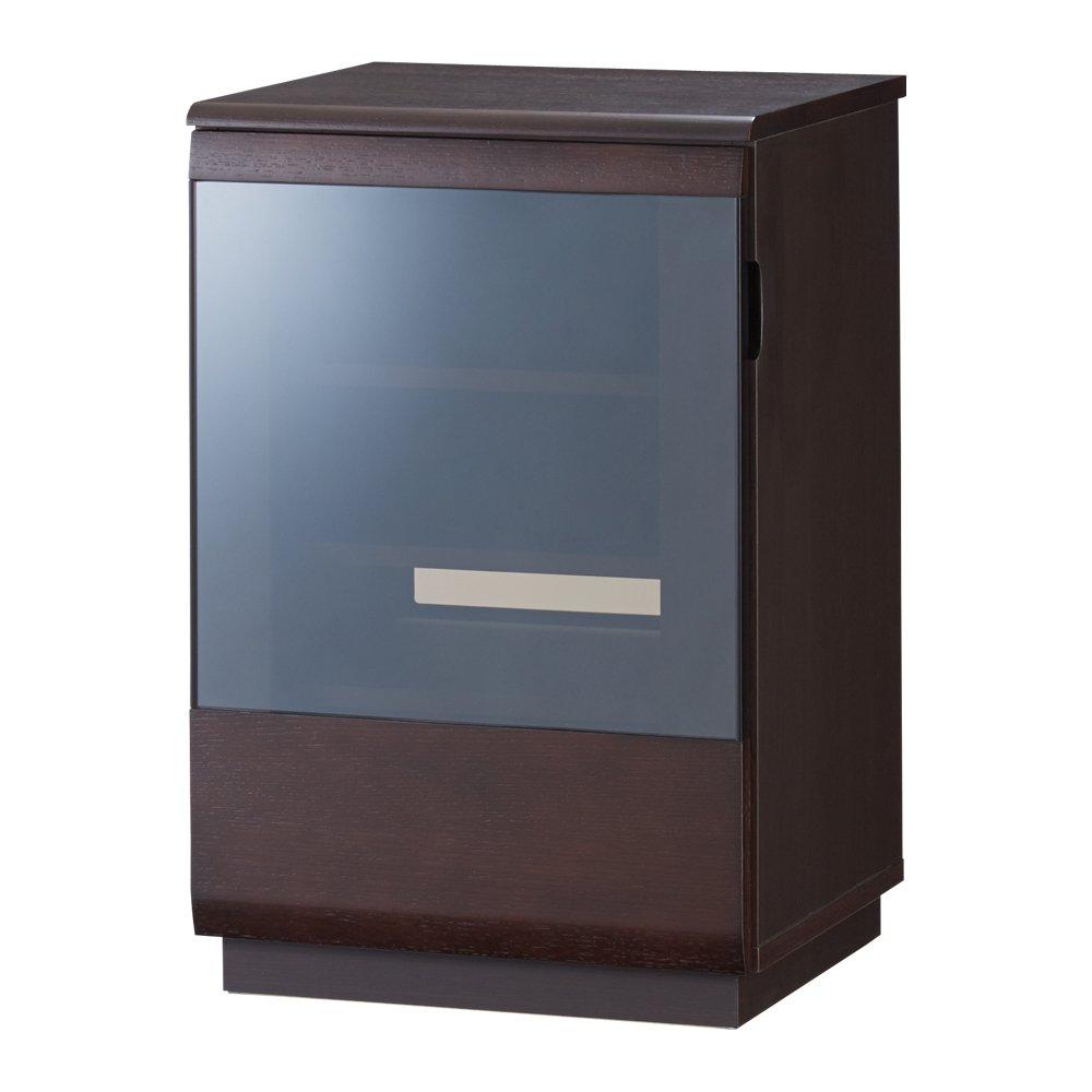 オーク材ブロンズガラスアールデザインシリーズ サイドボード 幅50cm(左開き) 663507(サイズはありません イ:ダークブラウン) B07MDGJZLK イ:ダークブラウン