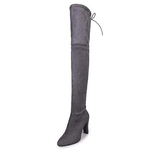 Amlaiworld Botines de tacón Botas alto Zapatos de tacón otoño invierno Para Mujer (33,