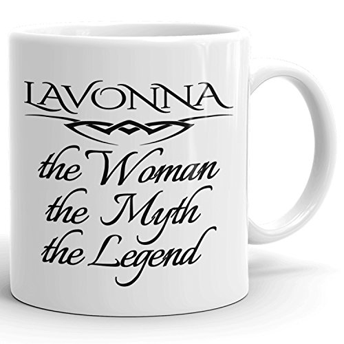 Best Personalized Womens Gift! The Woman the Myth the Legend - Coffee Mug Cup for Mom Girlfriend Wife Grandma Sister in the Morning or the Office - L Set 3