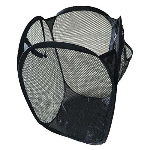 Laun Basket - Cocal Foldable Pop Up Washing Laundry Basket Bag Hamper Mesh Storage Pueple