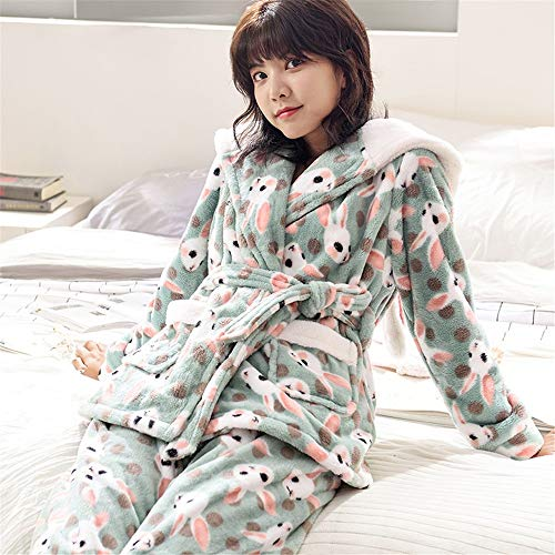 Pajamasx Female Service 65kg Nightgown 168cm Suit 58 Hooded 50kg Coral Home Xl162 Flannel Thick Loose And 30 M150 Winter Autumn Cute Pajamas 162cm Velvet tOAtHyFTr6
