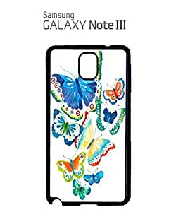 Butterfly Colourful Art Mobile Cell Phone Case Samsung Note 3 White
