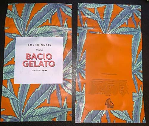 Sherbinskis Bacio Gelato 3 5g / 7g Bags Mylar Bags (50 Pack