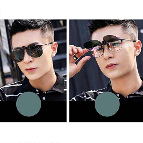 Reflectante Driver Hombres Hombre Universal Color Clips de Gafas Las Mujeres WLHW miopizadas Oro Clip para Verde HD sol Mujeres y de oscuro polarizadas Gafas 74aq8H4