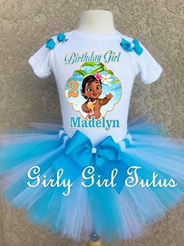 Moana Baby Blue Custom Birthday Outfit Set ()