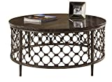 Hillsdale 5752OTC Brescello Round Coffee Table, 36″, Charcoal/Blue Stone Review