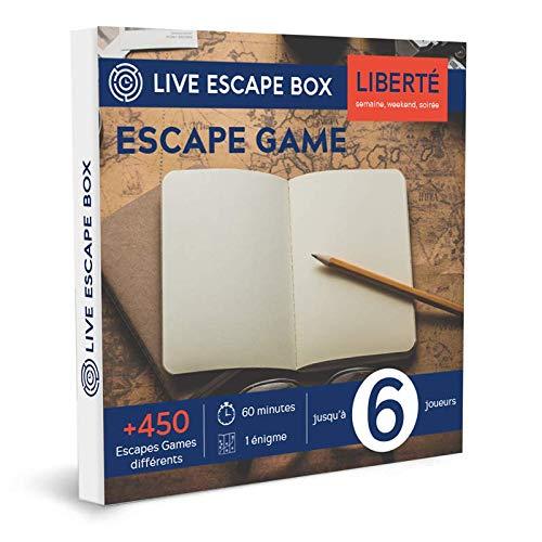 e-Coffret Cadeau Escape Box Liberté 6 Joueurs Live Escape Box