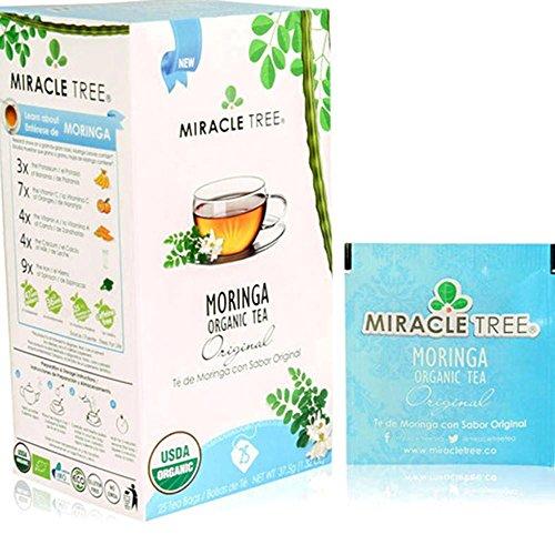 (Miracle Tree Organic Original Moringa Superfood Tea 25 ct (Pack of 3) )