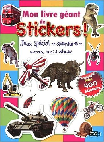 Mon Livre Geant De Stickers Jeux Special Aventure