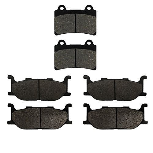 Road Passion Brake Pads Front and Rear for YAMAHA XVZ 1300 Royal Star Midnight Tour Deluxe 06-07/Midnight Venture 02-07/Tour Deluxe 2005-2007/Venture S 08-13/XVZ1300 TF Venture Star ()