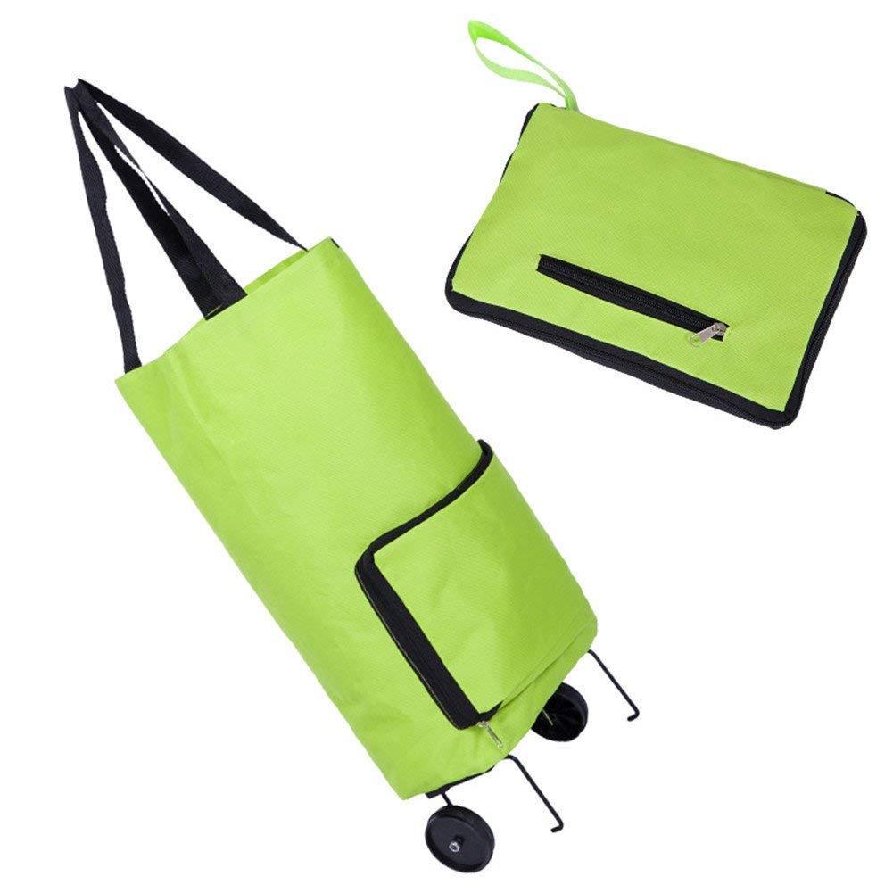 Foldable Traveling Shopping Trolley Cart Handbag with Wheels eronde
